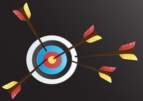 Doel Boogschieten kunst vector achtergrond