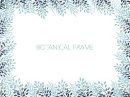 Botanical background/frame with text space.