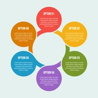 Circle chart, Circle infographic or Circular diagram vector