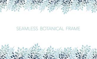 Naadloze botanische achtergrond / frame. Horizontaal herhaalbaar.