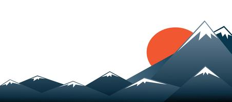 Mount Fuji vector background