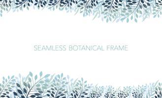 Seamless botanical background/frame. Horizontally repeatable.