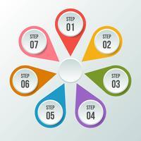 Gráfico circular, infografía circular o diagrama circular. vector