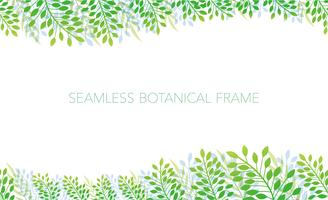 Seamless botanical background/frame. Horizontally repeatable. vector