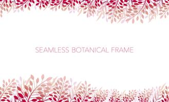 Seamless botanical background/frame. Horizontally repeatable.
