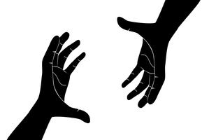 hands holding art vector