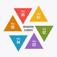 Gráfico de círculo, infografía de círculo con forma de triángulo