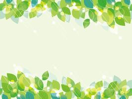 Seamless green leaves background.