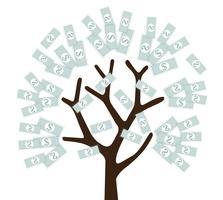 money tree , money grown up vector