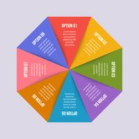 Circle chart, Geometric infographic with triangle shape