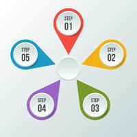 Circle chart, Circle infographic or Circular diagram vector