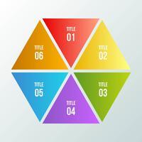 Kreisdiagramm, geometrisches infographic mit Dreieckform