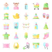 Pack de iconos de baby shower