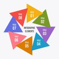Circle chart, Circle infographic with triangle shape