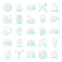 Fast food icons pack