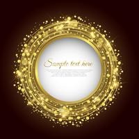Golden circle background vector Abstract Background