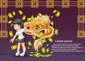 happy Chinese new year. vector