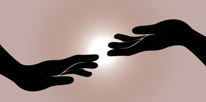 hand and other hand vector