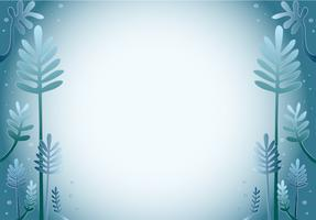 blue leaf cartoon design background