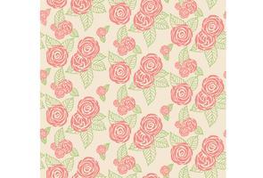 Texture d'impression florale