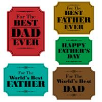 happy fathers day labels