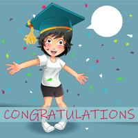 She is telling you that congratulations.