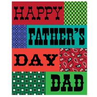 fathers day bandana card