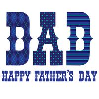 Father's Day typography graphics with blue patterns vector