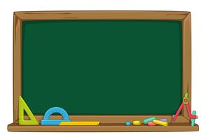 Blank green chalkboard vector illustration