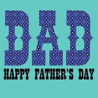 Father's Day blue bandana pattern typography graphic