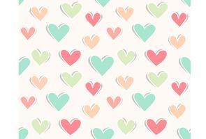 Heart paper cut out seamless wallpaper