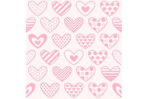 Heart print seamless wallpaper