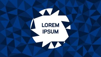 Dark Blue low poly background vector