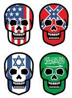 ensemble, emblème avec crâne