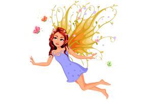 Beautiful nature fairy flying