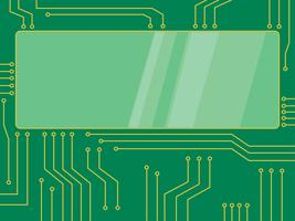 microchip vector cartoon banner