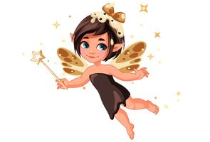 Cute little chocolate vanila fairy