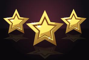 Golden three star icon