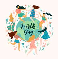 Earth Day. Vector template for different uses Design element