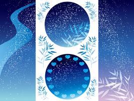 Set di sfondi assortiti della Via Lattea per il Festival giapponese delle stelle.