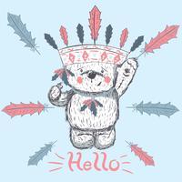 cute little bear vector