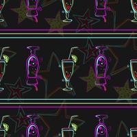 Seamless pattern with cocktails.  vector