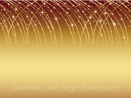 Seamless starry night sky background illustration with streaks of shooting stars.