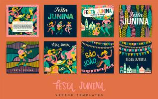 Festa Junina. Vector templates.