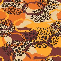 Tribal ethnic seamless pattern with animal print. vector