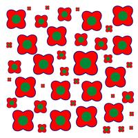 Red Pattern Flower design