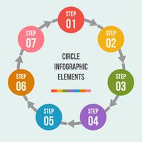 Gráfico de círculo, infografía de flechas de círculo o plantillas de diagrama de ciclo vector