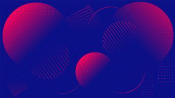 Minimal geométrica de moda la composición de formas degradadas. fondo ilustración vectorial