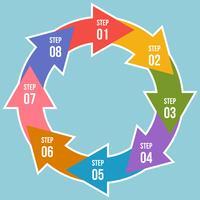 Cirkeldiagram, Cirkelpilar Infographic eller Cykeldiagrammallar