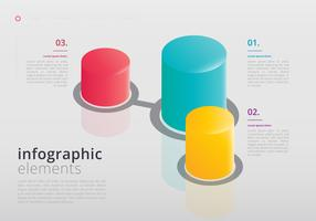 3D Infographic Elements vector